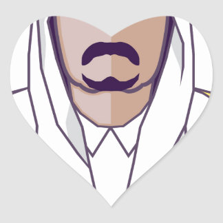 アラビアの王子のベクトル ハートシール
