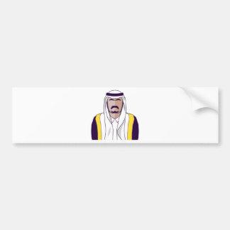 アラビアの王子のベクトル バンパーステッカー