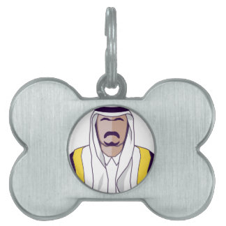 アラビアの王子のベクトル ペットネームタグ