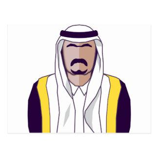 アラビアの王子のベクトル ポストカード