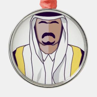 アラビアの王子のベクトル メタルオーナメント