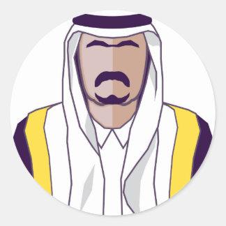 アラビアの王子のベクトル ラウンドシール