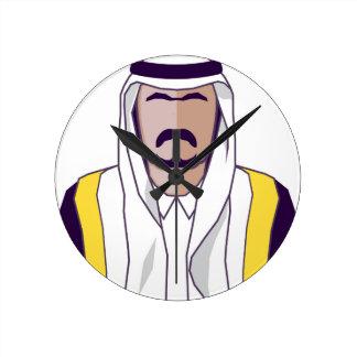 アラビアの王子のベクトル ラウンド壁時計