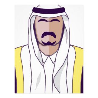 アラビアの王子のベクトル レターヘッド