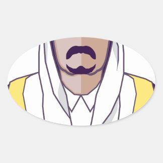 アラビアの王子のベクトル 楕円形シール