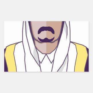 アラビアの王子のベクトル 長方形シール