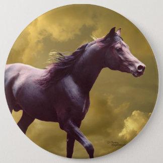 アラビアの種馬の嵐の日没ボタンPin 15.2cm 丸型バッジ