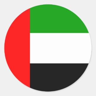 アラビアの管轄区域の高品質な旗 ラウンドシール