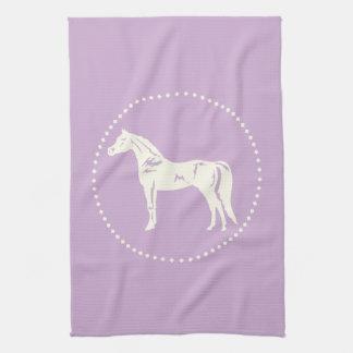 アラビアの馬のシルエット キッチンタオル