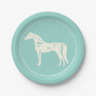 アラビアの馬のシルエット ペーパープレート
