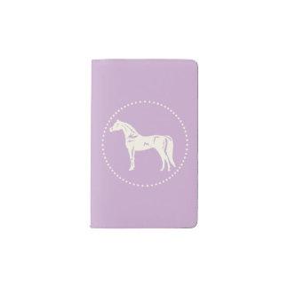 アラビアの馬のシルエット ポケットMoleskineノートブック