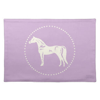 アラビアの馬のシルエット ランチョンマット