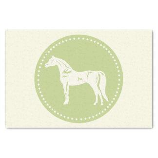 アラビアの馬のシルエット 薄葉紙