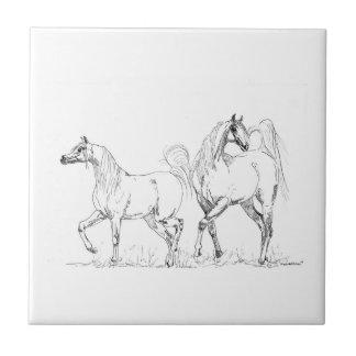 アラビアの馬のセラミックタイル-アラビアの馬 タイル