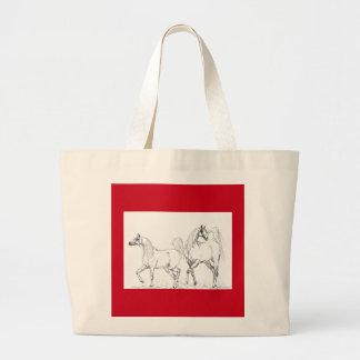 アラビアの馬のトートバック-アラビアの馬 ラージトートバッグ