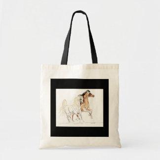 アラビアの馬のバッグ トートバッグ