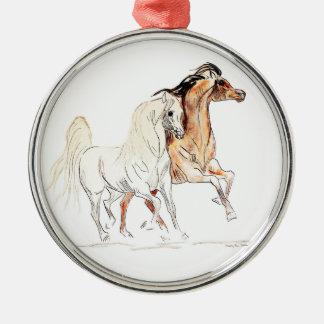アラビアの馬の優れた円形のオーナメント メタルオーナメント