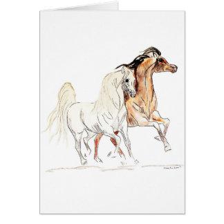 アラビアの馬の挨拶状 カード