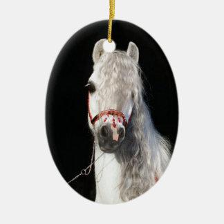 アラビアの馬の白 セラミックオーナメント