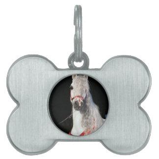 アラビアの馬の白 ペットネームタグ