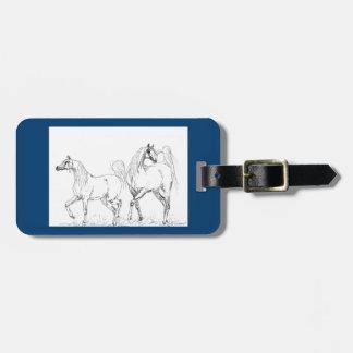アラビアの馬の荷物のラベル-アラビアの馬 ラゲッジタグ