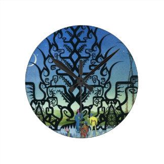 アラビアンナイトのイラストラティブ時計 ラウンド壁時計