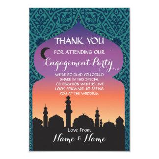 アラビアンナイトのティール(緑がかった色)カードを結婚しているありがとう カード