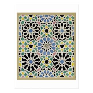 「アラビア人からのアルハンブラのモザイク模様の歩道、 ポストカード