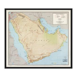 アラビア半島(1969年)の地図 キャンバスプリント