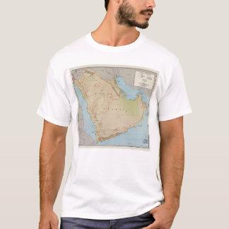 アラビア半島(1969年)の地図 Tシャツ