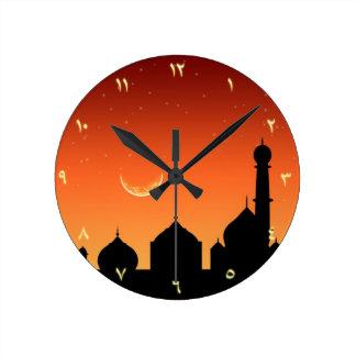 アラビア夕べの空-円形の時計 ラウンド壁時計