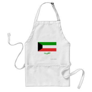 アラビア語の名前のクウェートの旗 スタンダードエプロン