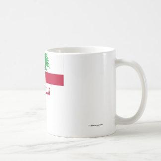 アラビア語の名前のレバノンの旗 コーヒーマグカップ