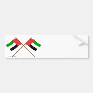 アラブ首長国連邦およびフジャイラによって交差させる旗 バンパーステッカー