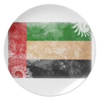 アラブ首長国連邦の旗 プレート