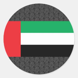アラブ首長国連邦の旗 ラウンドシール