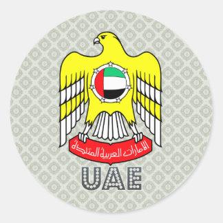アラブ首長国連邦の紋章付き外衣 ラウンドシール