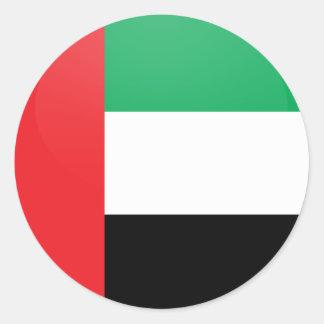 アラブ首長国連邦の質の旗の円 ラウンドシール