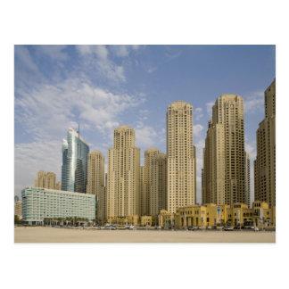アラブ首長国連邦、ドバイのマリーナ。 Jumeirahのビーチの住宅 ポストカード