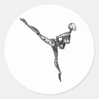 アラベスクのサイボーグのバレエ ラウンドシール