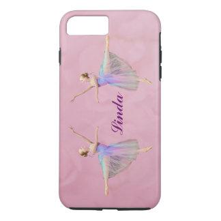 アラベスク、カスタマイズ可能な名前のバレリーナ iPhone 8 PLUS/7 PLUSケース