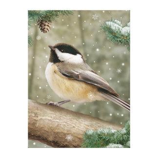 """アランGianaの""""冬の《鳥》アメリカゴガラ""""のキャンバスのプリント キャンバスプリント"""