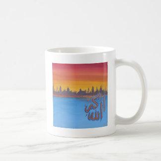 「アラーAkbar」の日没のイメージ コーヒーマグカップ