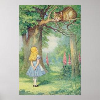 アリスおよびチェシャー猫 ポスター