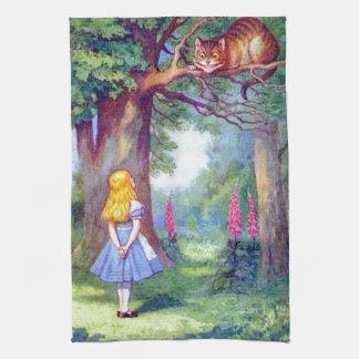 アリスおよびチェシャー猫 台所タオル