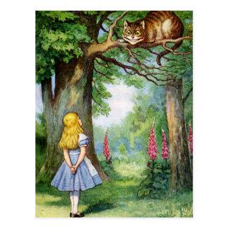 アリスおよびチェシャーCAT ポストカード