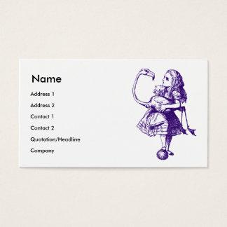 アリスおよびフラミンゴは紫色にインクをしみ込ませました 名刺
