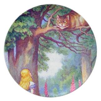 アリスおよびフルカラーチェシャー猫 パーティープレート