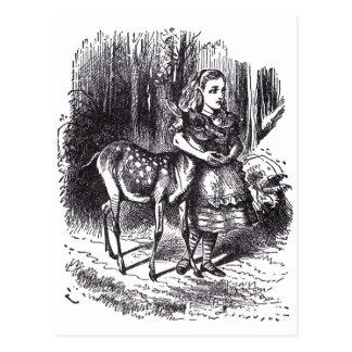 アリスおよび子鹿 ポストカード