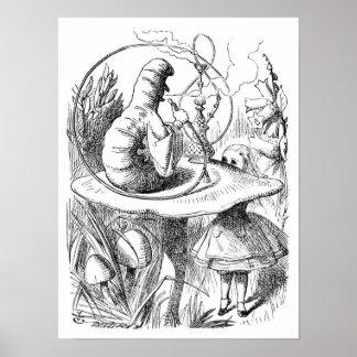 アリスおよび幼虫 ポスター